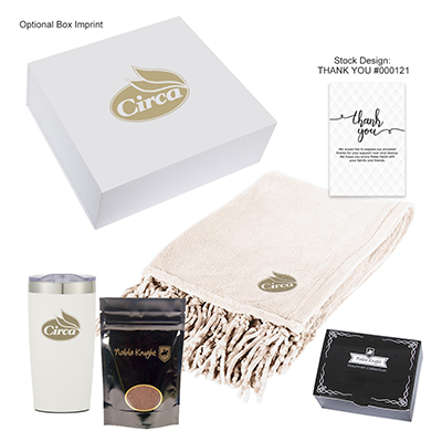 Higher Promos Cozy Comfort Coffee Kit Blanket Coffee Candy